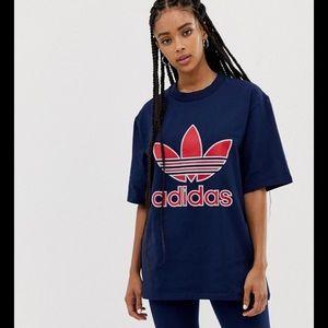 New adidas originals trefoil oversized tee L